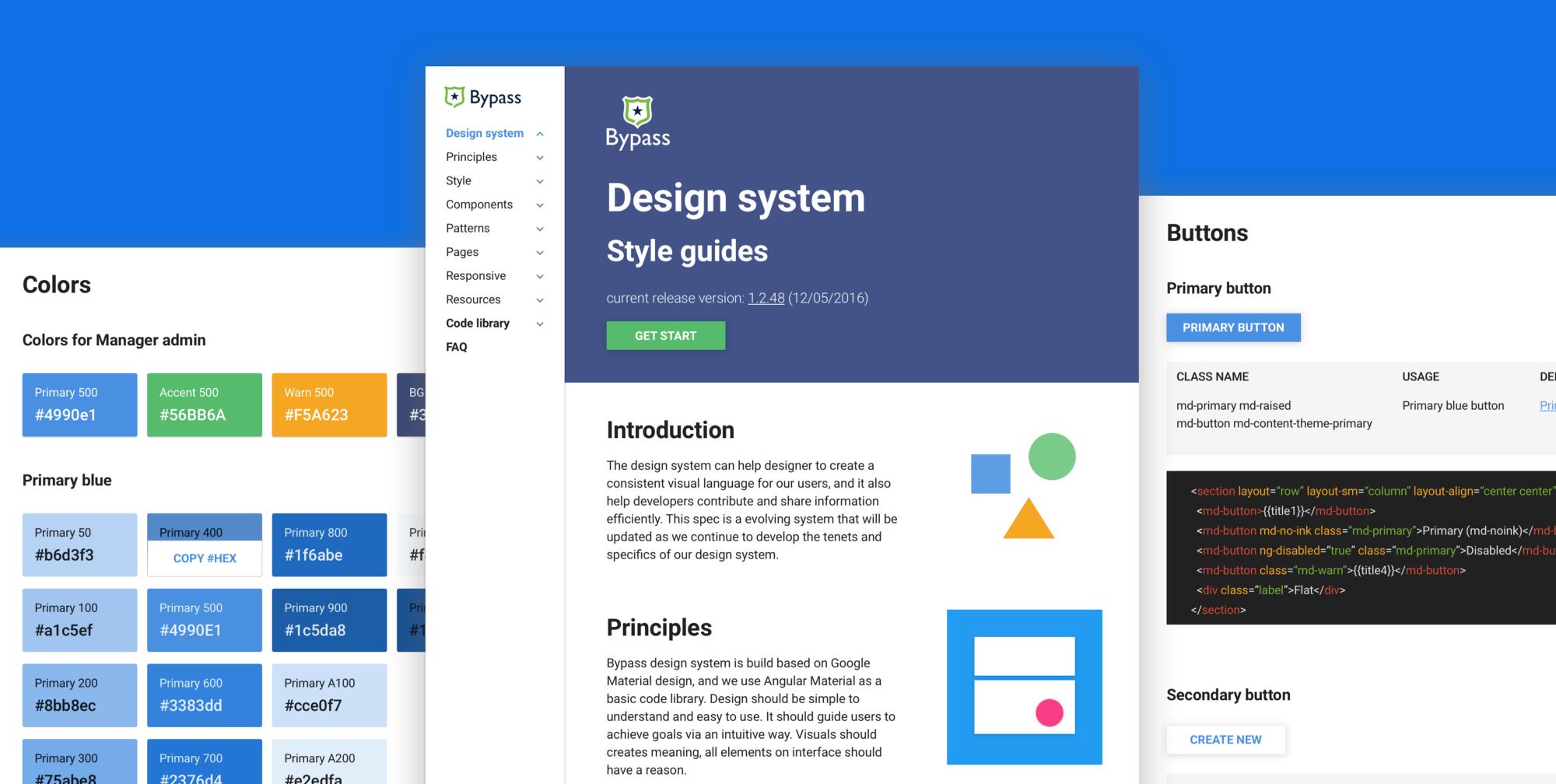 Příklad Design system