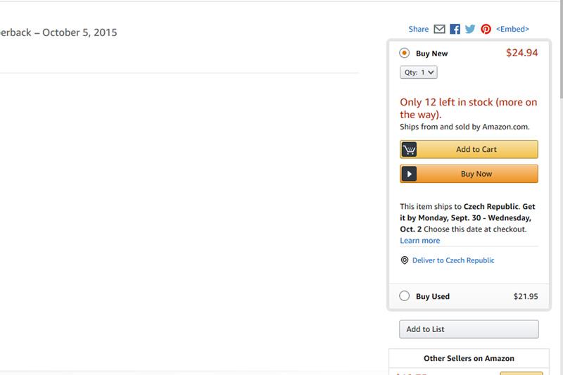 Amazon- zrychlený nákup pomocí Buy now tlačítka