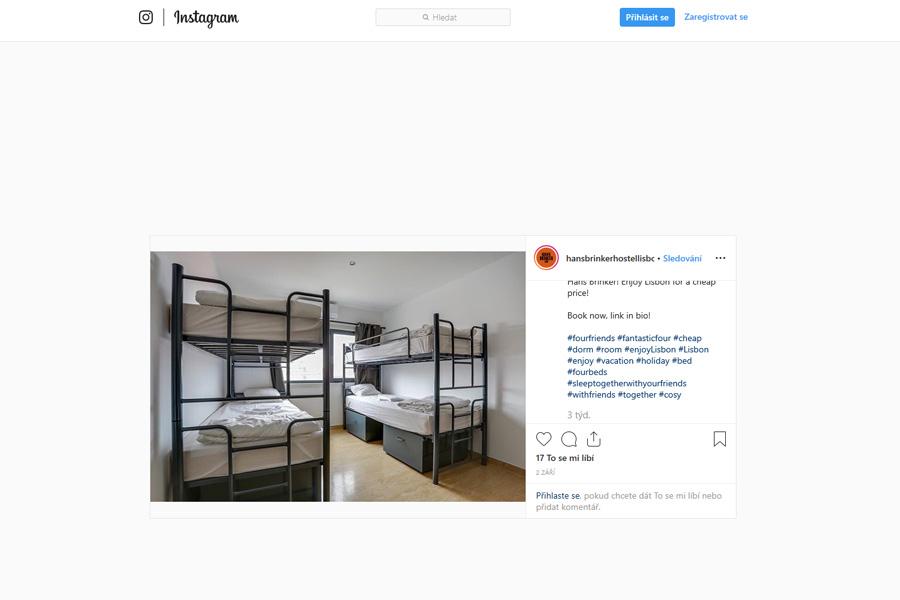 Hans Brinker hotel na Instagramu