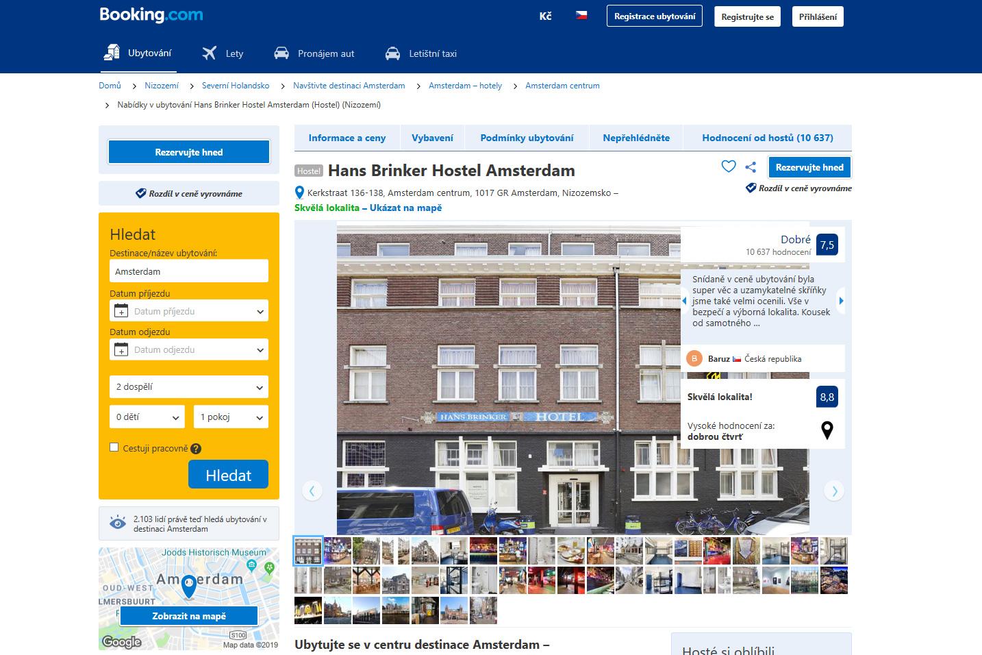 Hans Brinker hotel na Booking.com