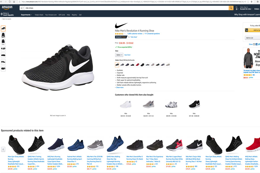 Amazon věrohodná nabídka produktu