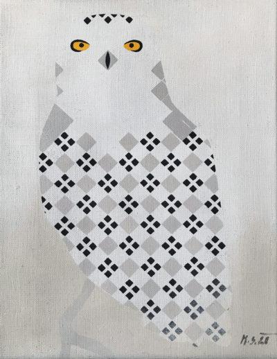 Sova sněžná malá