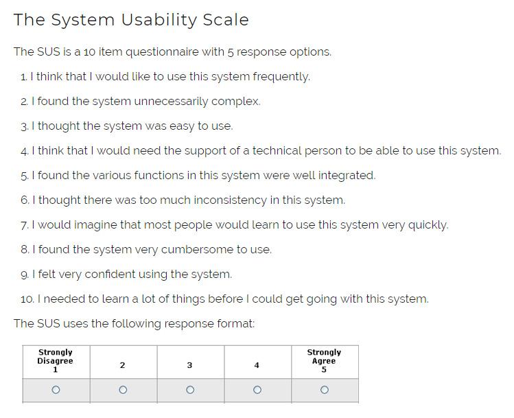 SUS metrika použitelnosti