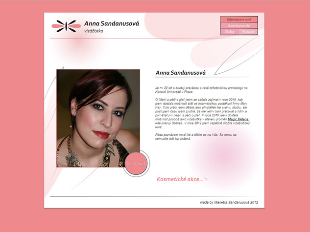 Anna Sandanusová web
