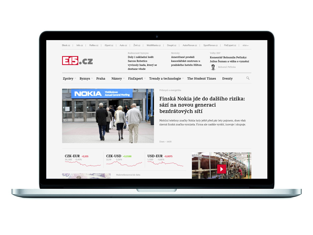 E15 - ekonomický zpravodajský portál