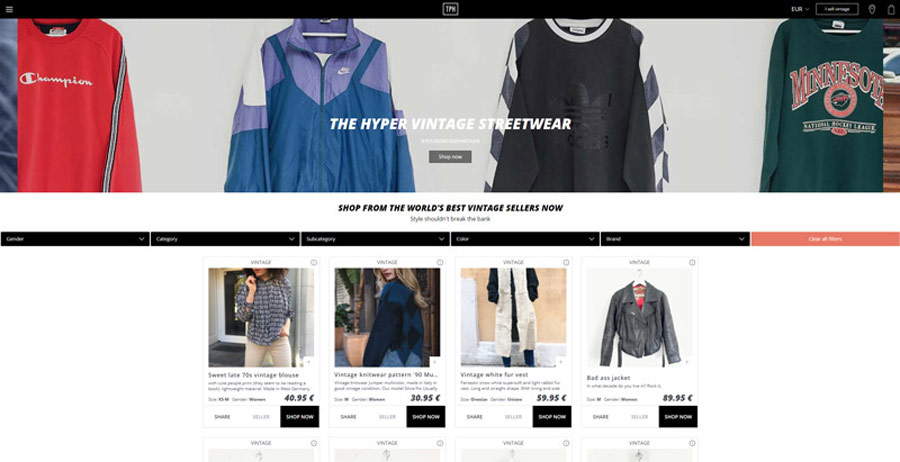 The Pasta Haters, švédský internetový obchod s vintage módou