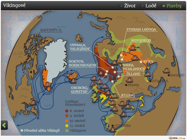 infografika Vikingové